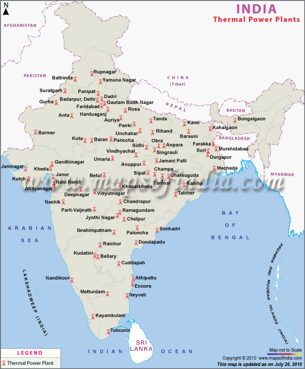 Power Plant Maps | INDIAN POWER SECTOR