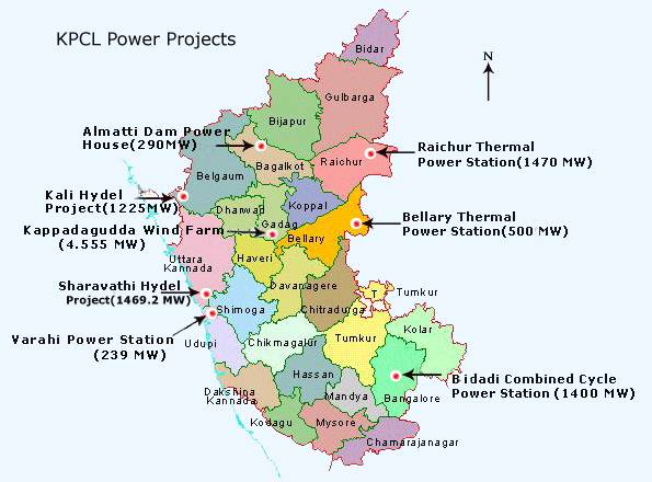 hydroelectric power plants in karnataka